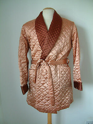 1960's QUILTED DRESSING GOWN BY TOOTAL..LARGE..NEW OLD STOCK..STRIKING COLOUR