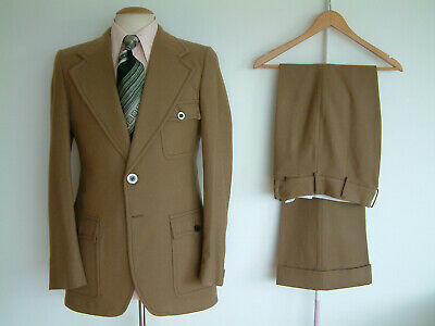 """1970's SUIT..FLARED..40"""" x 34""""..STEVE HEIGHWAY..LIVERPOOL FC..VERY RARE ITEM"""