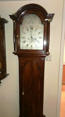 Superb antique longcase clock c 1760 Mahogany case London apprentice maker