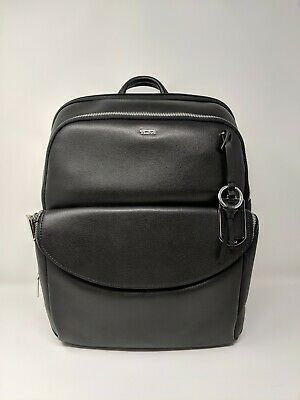 New Tumi Stanton Hettie Laptop Backpack * Black Leather * 79404D