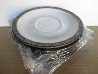 Denby Marrakesh Tea Saucers x 2 New First Quality Excellent Condition