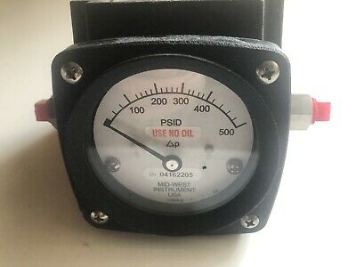 Mid West Instrument Differential Pressure Gauge Stainless Viton 2000psi