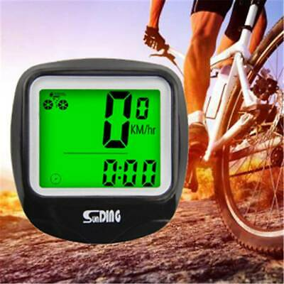 LCD Digital Cycle Computer Bicycle Bike Backlight Wired Speedometer Odometer