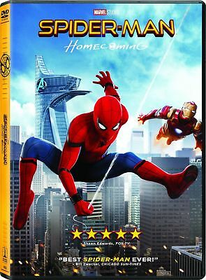 SPIDER-MAN HOMECOMING DVD Brand New Sealed Spiderman Marvel Movie Superhero 2017