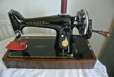 Beautiful Vintage Singer 201K sewing machine(SEE LEATHER SEWN)