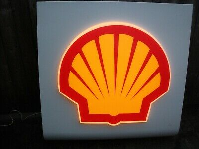 Vintage Shell Gas Service Station Light Up Sign