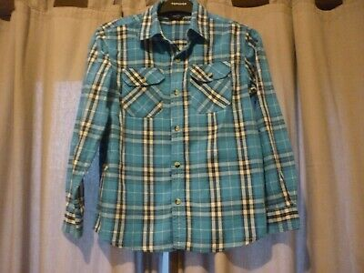 Boys Blue Long Sleeve Checked Shirt From George - Aged 9-10 Years