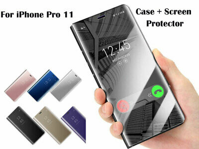 """Slim Cover Luxury Mirror View Flip Stand Case for iPhone 11 Pro 5.8"""""""