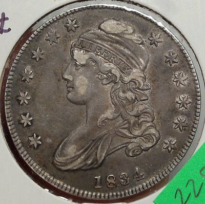 1834 Capped Bust Half Dollar, Original Extremely Fine, Great for Type    0502-09