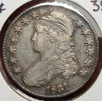 1831 Capped Bust Half Dollar, Choice Very Fine, Nice Type Coin   1205-32