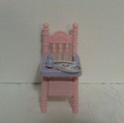 Fisher-Price Loving Family Sweet Sounds Dollhouse 2002 Purple Nursery Chair