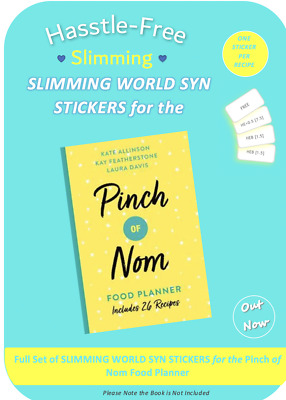 💕Slimming World Syn Stickers for PINCH of NOM FOOD PLANNER - Stickers Only 💕