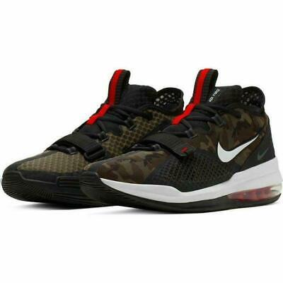 NEW NIKE MEN'S Air Force Max Low CAMO Shoes BV0651 004 Black