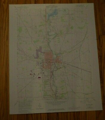 US Geological Survey USGS Topography Map; Vintage Map; Delaware, Ohio