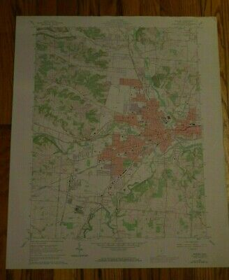 US Geological Survey USGS Topography Map; Vintage Map; Newark, Ohio