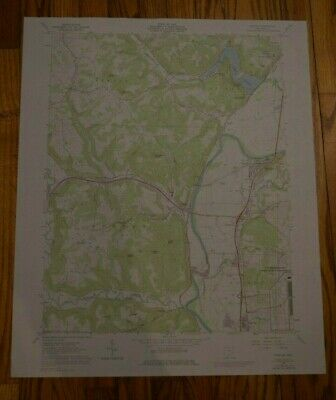 US Geological Survey USGS Topography Map; Vintage Map; Piketon, Ohio
