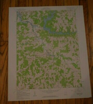 US Geological Survey USGS Topography Map; Vintage Map; Bowerston, Ohio