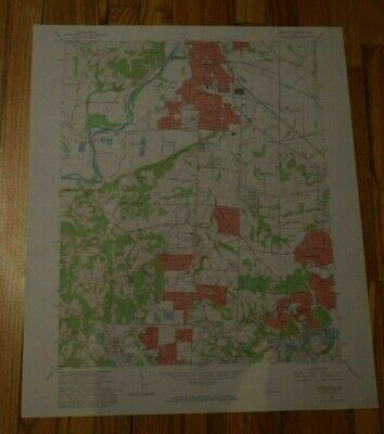 US Geological Survey USGS Topography Map; Vintage Map; Greenhills, Ohio