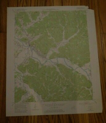 US Geological Survey USGS Topography Map; Vintage Map; Irvine, Kentucky