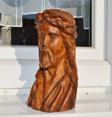 19thc Black forest ANTIQUE religious  Christ statue wood mint condition 8 in