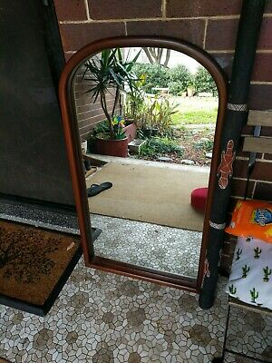 Genuine PARKER FURNITURE MIRROR RETRO VINTAGE, Oval Top Solid Crafted Wood