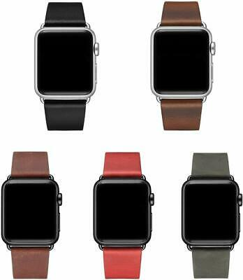 Apple Watch Luxury Leather Band iWatch Strap Series 5 4 3 2 1 38 40mm 42 44mm