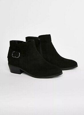 Evans Extra Wide Fit Black Buckle Ankle Boots - BNWT - Size 9EEE
