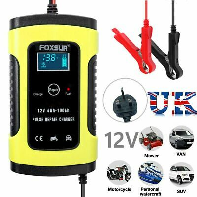 Smart Car Battery Charger 12V LCD Intelligent Automobile Motorcycle Pulse Repair