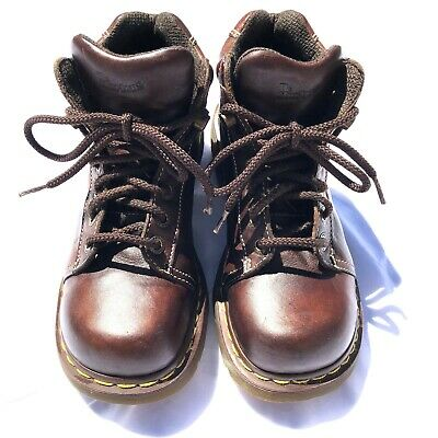 Dr. Martens Soren Ankle Boots Mens Size 10 M Air Wair Brown Leather Lace & Hook   eBay