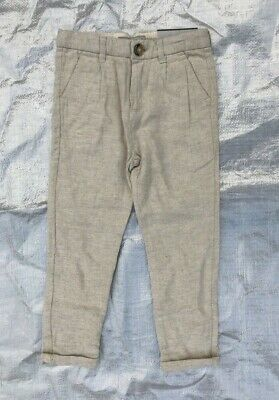 "Bnwt Boy's "" Zara - Kids "" Beige Chino Trousers - 5 Years  !"