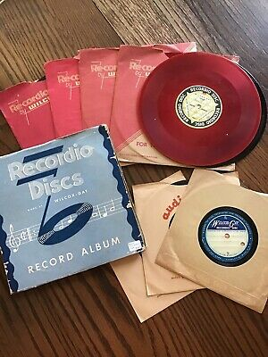 Vintage Audiodisc & Wilcox-Gay 9 Blank Recording Discs & 15 Home Recorded Discs