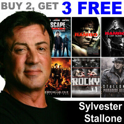 """/""""FIRST BLOOD/"""" .. SYLVESTER STALLONE Retro Movie Poster A1A2A3A4Sizes"""