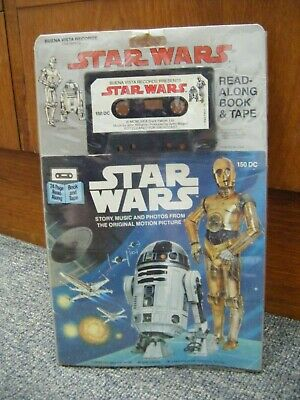 Vintage 1977 The Story of Star Wars 24 Page Read Along Book & Cassette Tape
