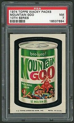 1974 Topps Wacky Packages Mountain Goo 10th Series PSA 7 Non-Sports Sticker