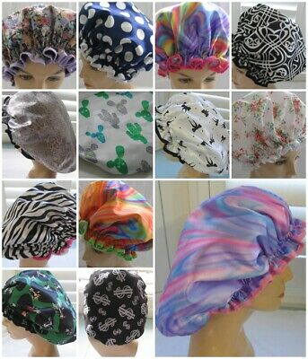 Designer shower caps for dreadlocks or very thick curly hair Afro's   waterproof