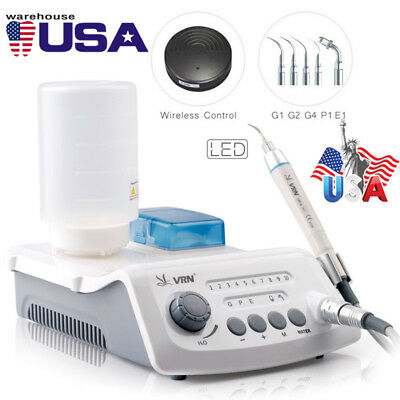 VRN Dental Wireless Control Ultrasonic Scaler with LED Detachable Handpiece