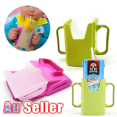 Juice Pouch Box Milk Toddler Adjustable Handles AU Baby Cup Holder