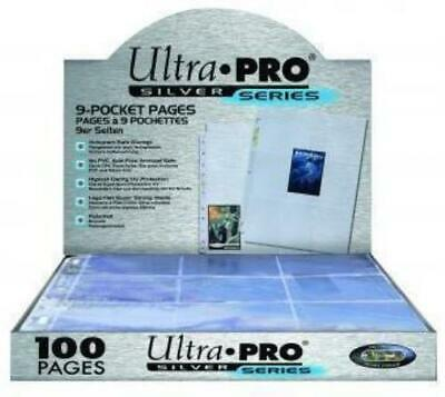 Ultra Pro 9 Pocket Page Silver Series Box of 100