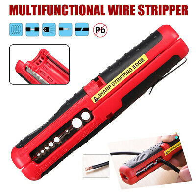 Rotary Coaxial Cable Wire Pen Cutter Stripper Hand Pliers Cable Stripping Tool