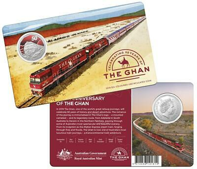 2019 50 Cents THE GHAN 90th Anniversary UNC Coloured Coin