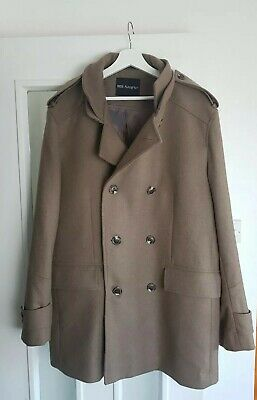 Autograph Marks & Spencer XL Beige Brown Smart Wool Coat Office Everyday Work