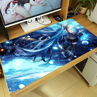 Vocaloid Large Mouse Pad Hatsune Miku Anime Thicken Keyboard Mat Game Playmat