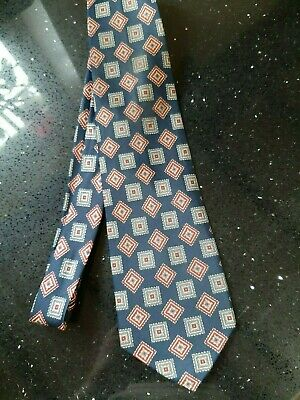 RENE CHAGAL Hand made Vintage SILK Tie  Retro