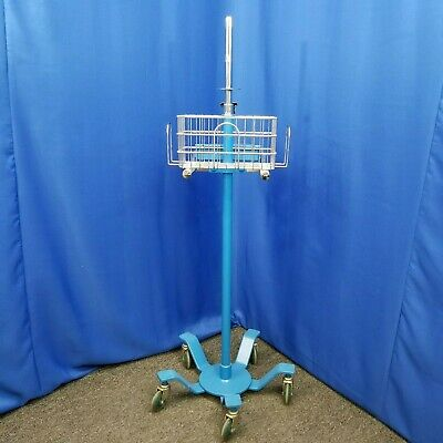 Dinamap Medical Patient Monitor Mobile Stand Roll Cart