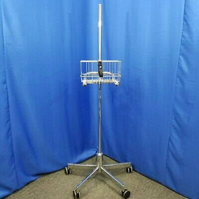 Johnson and Johnson Medical Patient Monitor Mobile Stand Roll Cart