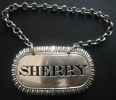 Georgian Sterling Silver Sherry Decanter or Wine Label hallmarked 1810 London