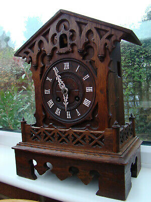 cuckoo mantel clock for restoration running ok cuckoo needs sorting maker GHS