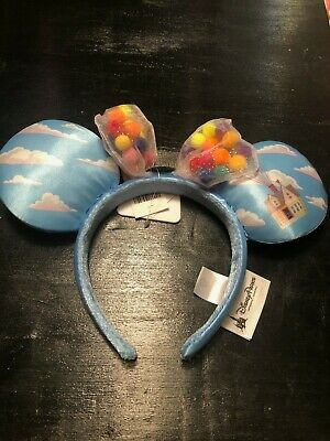 Disney Parks Minnie Mouse Up House Clouds Balloon Grape Soda Ears Headband