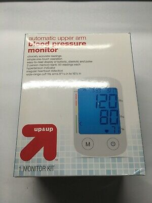 Automatic Upper Arm Blood Pressure Monitor Kit Up and Up One Touch Operation