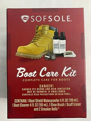 Sof Sole Boot Care Kit Complete Care For Boots Boot Shield Waterproof New Sealed